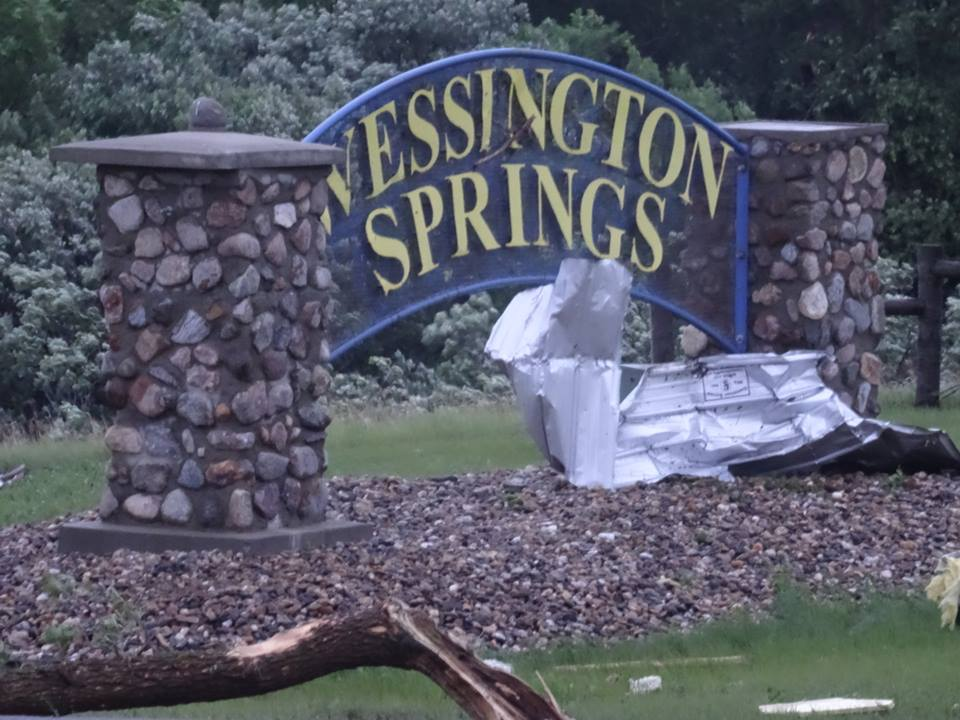 Devastating Destruction in Wessington Springs, SD