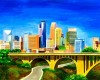 Minneapolis Minnesota Skyline Art approved clipart